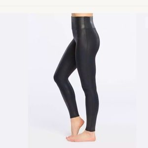 SPANX Faux Leather Control Top Skinny Leggings